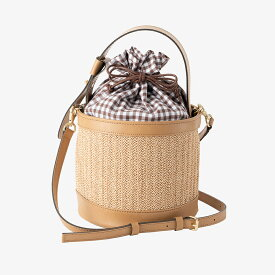 【round basket bag / beige】カゴバック 巾着バック ショルダー 斜め掛け ハンドバック 日本製 ブラック ベージュ 合皮 20代 30代 40代 送料無料 レディース Dolce. ドルチェ