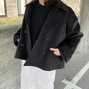【ショートコート / black】レディース アウター コート ショートコート 冬 上品 きれいめ ショート丈 送料無料 Dolce…