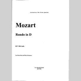 【楽譜】モーツァルト/ロンド ニ長調 KV184Anh./フルートアンサンブル/神田寛明アレンジ楽譜