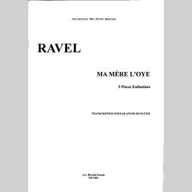 【楽譜】ラヴェル/マ・メール・ロワ(2002改訂版)/フルート四重奏/神田寛明アレンジ楽譜