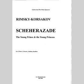 【楽譜】リムスキー=コルサコフ/シェヘラザードより 若い王子と若い王子/フルート四重奏/神田寛明アレンジ楽譜