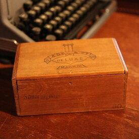 アンティーク イギリス 英国 木製 木箱 箱 小物入れ アクセサリー入れ ファッション インテリア