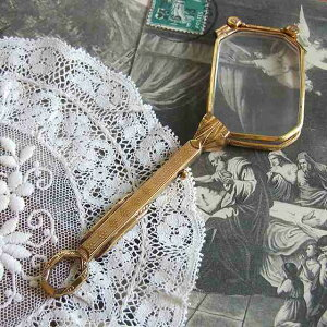 アンティーク ロニェット アクセサリー イギリス ルーペ 眼鏡 老眼鏡 敬老の日 母の日 プレゼント 婦人 ギフト 贈り物 クリスマス 誕生日 ホワイトデー つる無し