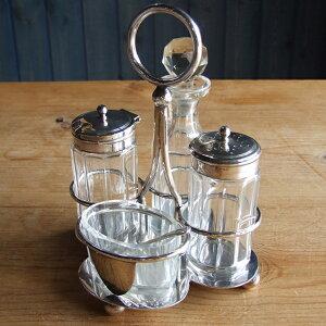 アンティーク 調味料入れ ボトル キッチン 食器 食卓 ビン イギリス ガラス テーブルウェア 母の日 ディスプレイ