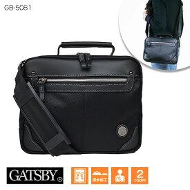 \送料無料/GATSBY ギャッツビー GB5081 2way ショルダーバッグ 2層式 小サイズ メンズ レディース 男女兼用 ブラック