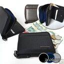 \送料無料/consice コンサイス 613073 モノグラム2 ラウンドファスナー札入れ 財布 二つ折り 合皮 牛革 ブラック ネイビー シルバー メンズ 紳士 男性財布