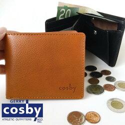 \送料無料/cosbyコスビー二つ折り財布GC-W144カジュアルウォレットフェイクレザー合皮ブラックキャメル紳士財布メンズ男性財布