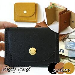 \送料無料/レガートラルゴLegatoLargoLJ-F1172ベーシック三つ折りミニ財布ブラックキャメルマスタード