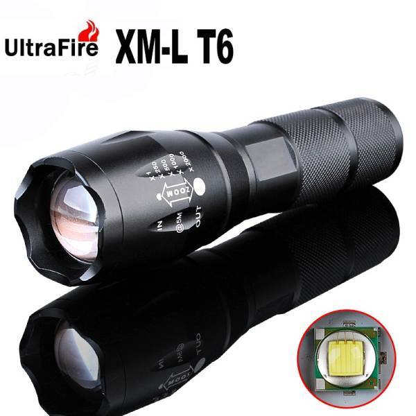 ◆ULTRA FIRE MINI LIGHT◆CREE XML-T6◆BLACK◆アタッチメント付◆