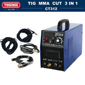 TOSENSE MMA アーク溶接機/TIG溶接機/プラズマ切断機 1台3役 インバーター直流マルチ溶接機 100/200V  CT312