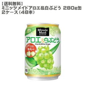 【送料無料】 ミニッツメイド アロエ&白ぶどう 280g 缶 2ケース 48本セット 【コカ・コーラ/代引き不可】