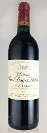 シャトー オー バージュ リベラル 1993年 750ml[フランス ボルドー ポイヤック 赤ワイン バックヴィンテージ]【送料無料】【数量限定】【赤ワイン】