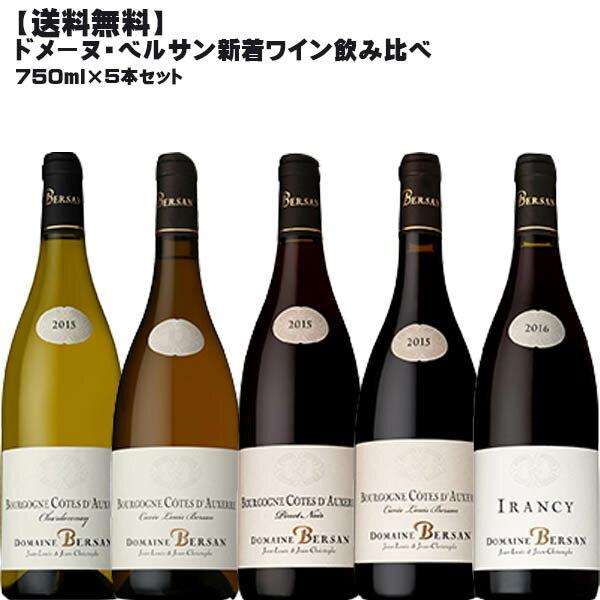 【送料無料】ドメーヌ・ベルサン飲み比べ5種セット【 フランス ブルゴーニュ ワインセット 赤ワイン 白ワイン 】
