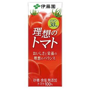 伊藤園 理想のトマト 200ml 紙パック (1ケース/24本)