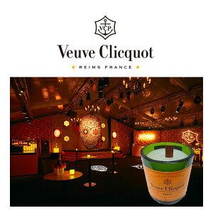 【送料無料】ヴーヴクリコブリュット750ml+シャンパンボトルキャンドルセット【数量限定フランスシャンパーニュギフトセレブモエキャンドル】