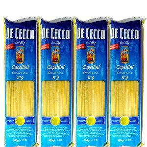 【200ポイントget】【送料無料】 ディ チェコ カッペリーニ 500g×4袋【ロングパスタ パスタ 輸入食材 輸入食品 ディ・チェコ イタリアン】