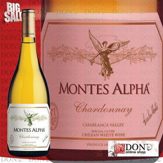 蒙特斯阿爾法霞多麗智利白色葡萄酒 750 毫升