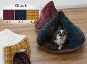 ペット テント風ベッド ペットベッド チェック ベッド 犬 いぬ イヌ 猫 ねこ ネコ テント グランピング