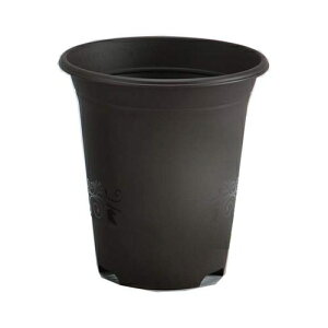 アップルウェアー|デコレロングポット 10号|ダークブラウン|鉢、プランター、茶色