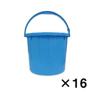 (個人宅配送不可)収穫かご ダストボックス 店舗什器に 丸カゴ 中 取っ手付 直径330×高さ275mm 16個セット 送料無料|メーカー直送