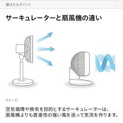 360°首振りサーキュレーターDCモーターリモコン付き送料無料サーキュレーターファンエアーサーキュレーターDCファン360度首振り自動首振り上下左右首振り静音省エネおしゃれSUNRIZEサンライズ