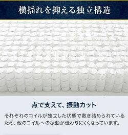 超高密度3ゾーンマットレスシングルセミダブルダブルポケットコイルポケットコイルマットレスベッドマットレス快眠体圧分散極厚25cmキルティング通気性防ダニ圧縮ロール梱包