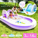 プール すべり台 滑り台 大型 送料無料 ビニールプール ファミリープール 大型プール キッズプール 子供用プール 子ど…