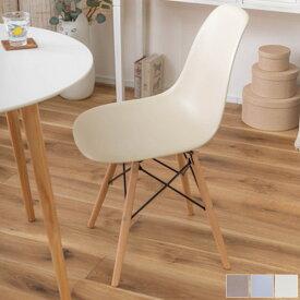 【送料無料】チェア (BL/BR/IV) チェアー ブルー ブラウン アイボリー 椅子 レザー オシャレ シンプル オフィスチェア 可愛い インテリア カフェ 北欧 イームズ風 木脚 淡い ナチュラル