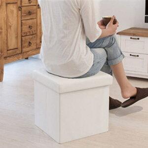 【送料無料】BOXスツール 正方形 (BK/WH/BE) 収納ボックス ボックス スツール インテリア おもちゃ箱 トイボックス スツール 椅子 イス いす 腰掛け ブラック ホワイト 白 黒 モノトーン ボック