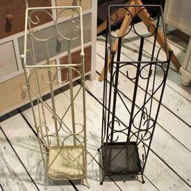 【送料無料】傘立て(BR/IV) 傘立 傘たて かさ立て ブラウン アイボリー アイアン 北欧 シンプル モダン デザイン インテリア 雑貨 ハート 可愛い かわいい おしゃれ
