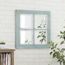 【送料無料】ミラー 壁掛け 角型 ウォールミラー 鏡 かがみ 壁掛けミラー アンティーク風の仕上がり ビンテージ風でレトロな雰囲気が大人可愛い 飛散防止 窓 ナチュラル/北欧/シンプル/フレンチシャビー