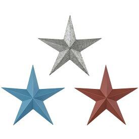 【送料無料】サイン スター (RD/BL/SV) インテリアオブジェ 星 ほし 星型 スター型 ワンポイント カリフォルニアスタイル ブルックリンスタイル キッズルーム インテリア 赤 レッド 青 ブルー シルバー