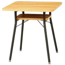 【送料無料】65 ダイニングテーブル 棚付き 2人用 コンパクトサイズ 角型 食卓テーブル 正方形 幅65cm 高さ68cm 北欧/シンプル/モダン/ブルックリン/レトロ/カフェ風/男前インテリア