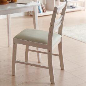 【送料無料】チェアー デスクチェア 椅子 背もたれ付 ダイニングチェア かわいい ホワイト 白 フレンチ/カントリー/クラシカル/ホワイト家具/白家具/姫系/シャビー 幅41cm 奥行き50cm 高さ79.5cm 座面高42.5cm 天然木 木製 PVC