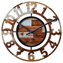 【150円クーポン】 INTERFORM インターフォルム 掛け時計 BERCY ベルシー MX ミックスカラー CL-8325MX <インターフォルム 新生活応援 掛時計 かけ時計 壁掛け おしゃれ 北欧 音がしない 連続秒針 インテリア>