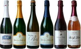 【送料無料】ドイツゼクト(スパークリングワイン)飲み比べ6本セット【ヴィラ・ヴォルフ、ゼクトケラーライ・ダイデスハイム、ラッツェンベルガー、シュロス・アラス、ライアット】【円高還元】【スパークリングワイン】【うち飲み】