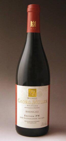 エディションPWシュペート・ブルグンダーQ.b.A.トロッケン[2008](ゲオルク・ミュラー)EditionPWSpatburgundertrocken[2008](GeorgMullerStiftung)【ドイツ】【辛口】【赤ワイン】