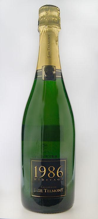 ヘリテージ ブリュット ミレジム [1986] (J(ジ)・ド・テルモン) Heritage Brut Millesime [1986] (J.De Telmont) 【スパークリング ワイン】【シャンパーニュ】