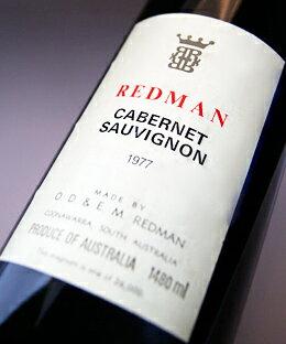 レッドマンカベルネ・ソーヴィニヨン1500mlマグナムサイズ[1977](レッドマン)REDMANCabernetSauvignon1500ml[1977](Redman)【赤ワイン】【オーストラリア】