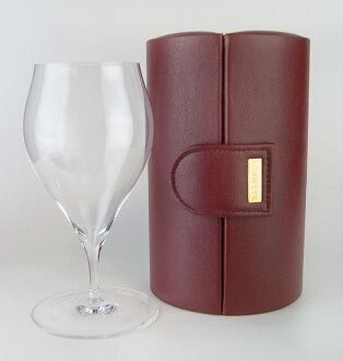Champagne Tulip D traveller II wine red (their) (Lobmeyr)