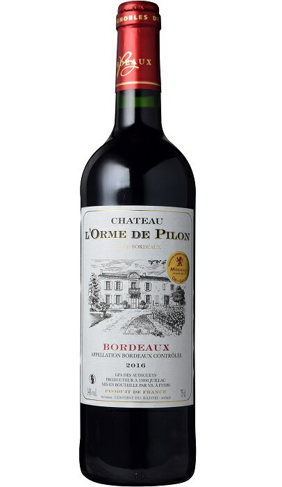 シャトー・ド・ロルム・ド・ピロン [2016] AOCボルドーChateau de l'Orme de Pilon [2016] AOC Bordeaux 【赤 ワイン】【フランス】