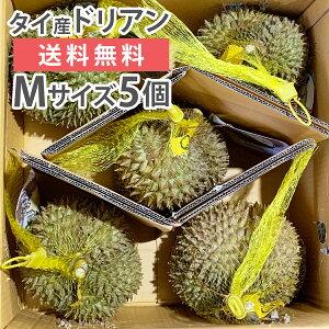 毎週輸入中! 準備ができ次第出荷 ドリアン タイ産 Mサイズ 5玉 生鮮 フレッシュ 生 果物
