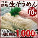 4種のセットから選べる 3色彩り生そうめん 10食セット 送料無料 / 素麺 そうめん 1食あたり100円 国産小麦100% メール便