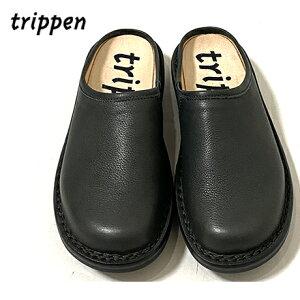 Trippenトリッペン【trippen 正規販売店】Half-Yen [ハーフエン]スリッポン・サンダルカラー:GRY-GY(チャコールグレー)