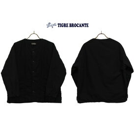 TIGRE BROCANTEティグルブロカンテタイプライターバッティングショートリブジャケットカラー:ブラック