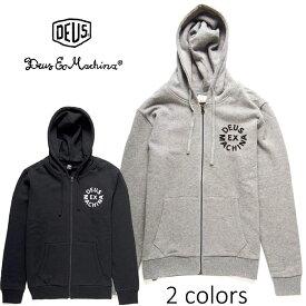 DEUS EX MACHINA(デウスエクスマキナ) - Circle Logo Hoodie - ロゴプリントデザインフルジップスウェットパーカー※日本国内 送料無料・代引手数料無料※ 【日本代理店正規品】