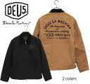 SALE・30%OFF【セール】DEUS EX MACHINA(デウスエクスマキナ) - Address Workwear Jacket - バック刺繍ロゴコットンキャンバスウールライニング付ワークウ