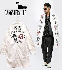 "GANGSTERVILLE/ギャングスタービル by GLADHAND - MOVSTER - COAT - ""LONG""プリントデザインロングカバーオール※日本国内 送料・代引手数料無料※"