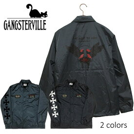 GANGSTERVILLE/ギャングスタービル by GLADHAND - Coaches Jacket - Love to Ride - ヴィンテージラバープリントコーチジャケット(オリジナルワッペン付)※日本国内 送料・代引手数料無料※