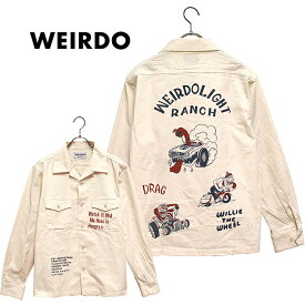 WEIRDO/ウィアード by GLADHAND - LIGHT RANCH - L/S SHIRTS - プリントデザインワークシャツ ※日本国内送料無料・代引手数料無料※